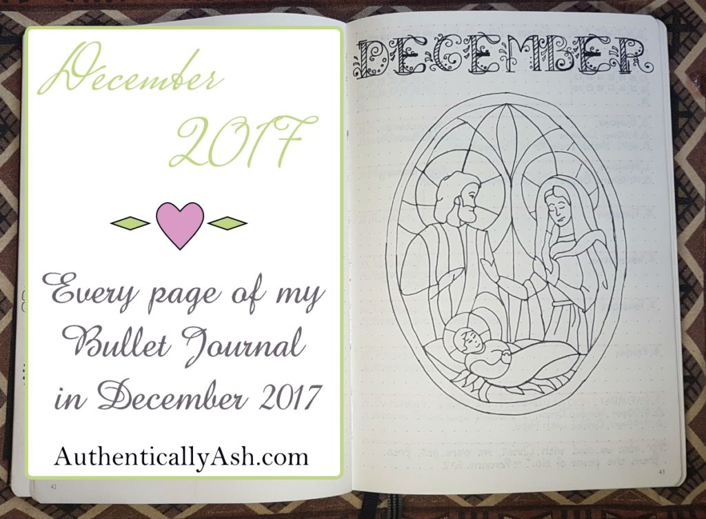 01 Bullet Journal Flip Through December 2017 - Welcome December
