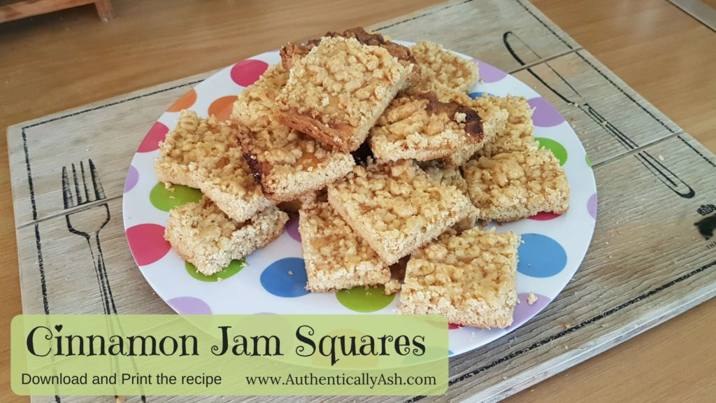 Cinnamon Jam Squares Recipe download and print on AuthenticallyAsh.com