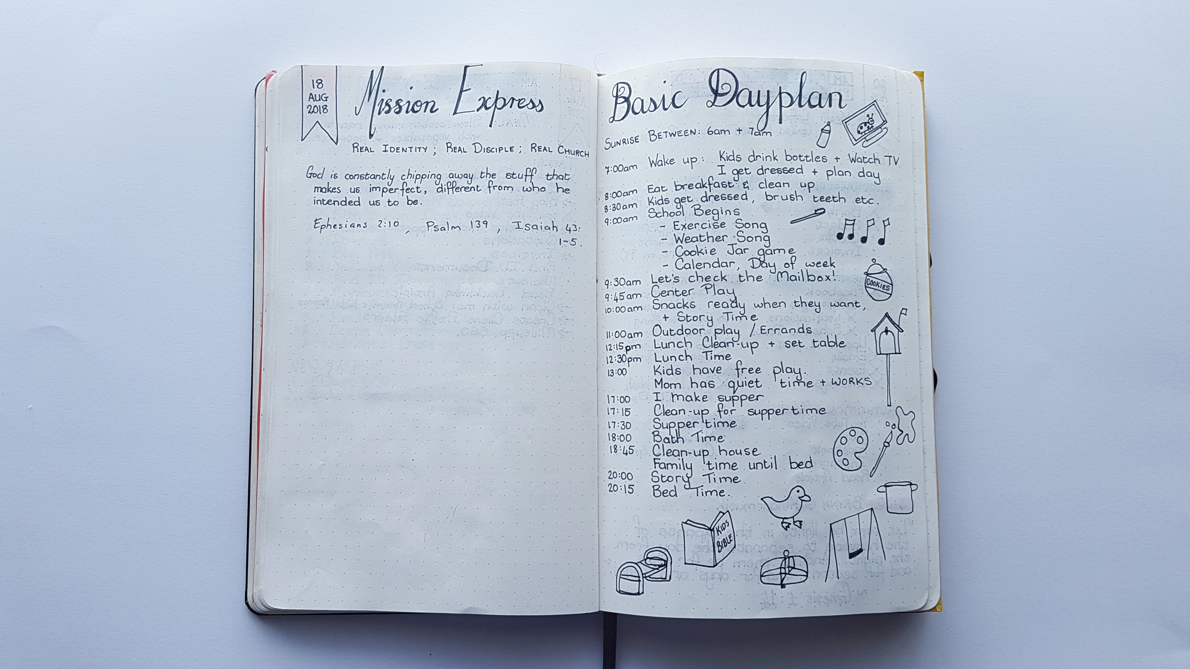 Complete August Basic Dayplan - AuthenticallyAsh