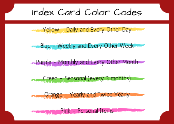 Color Codes for your Index Cards | AuthenticallyAsh.com