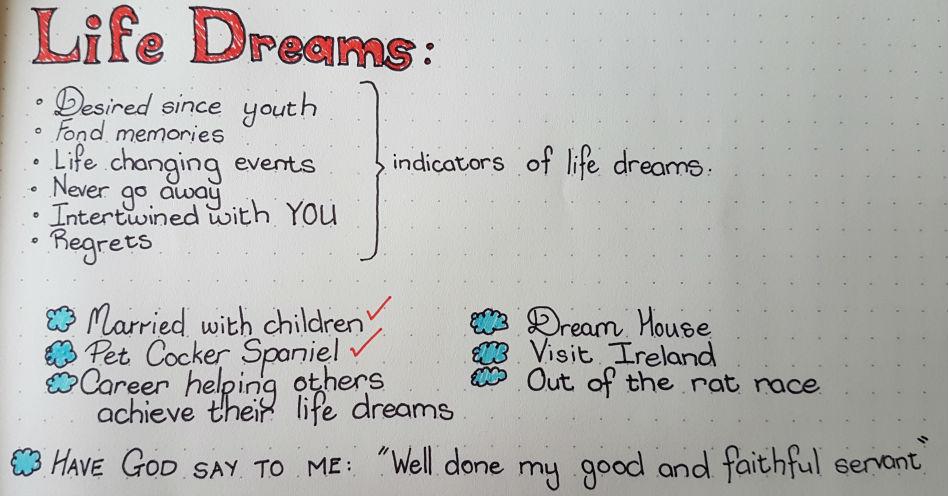 Characteristics of life dreams