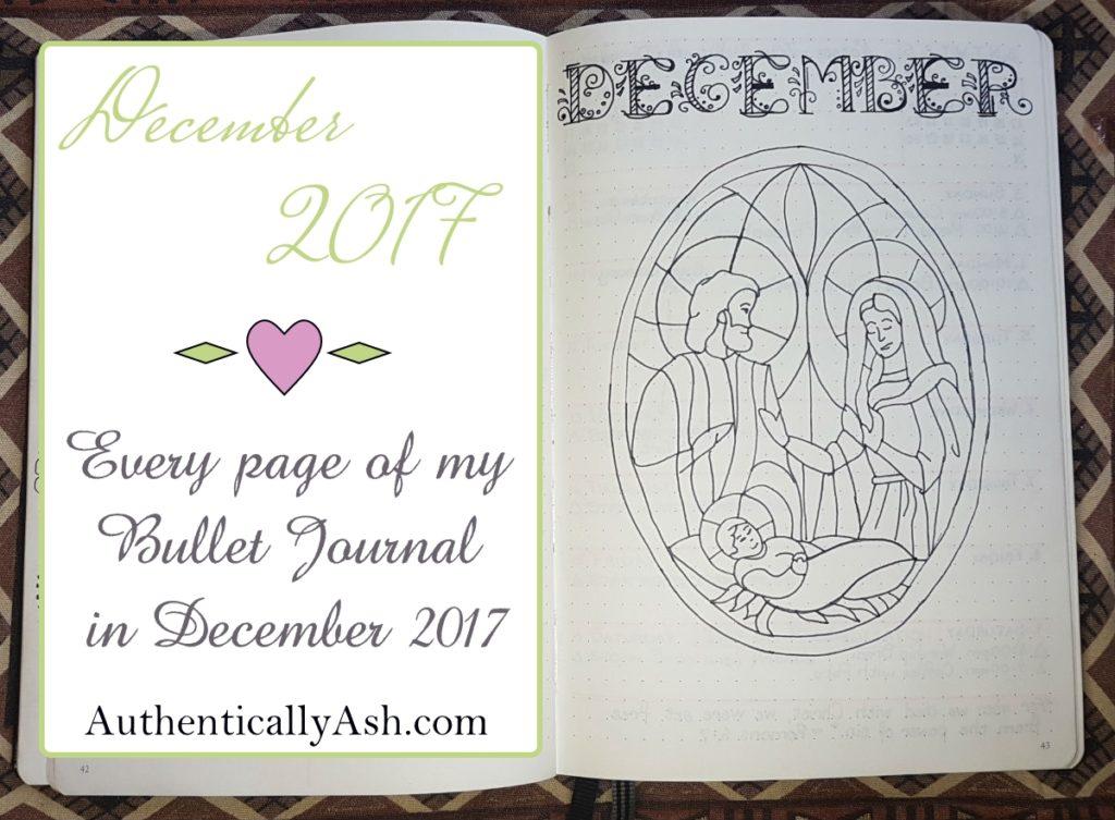 01 Bullet Journal Flip Through December 2017 - Welcome December