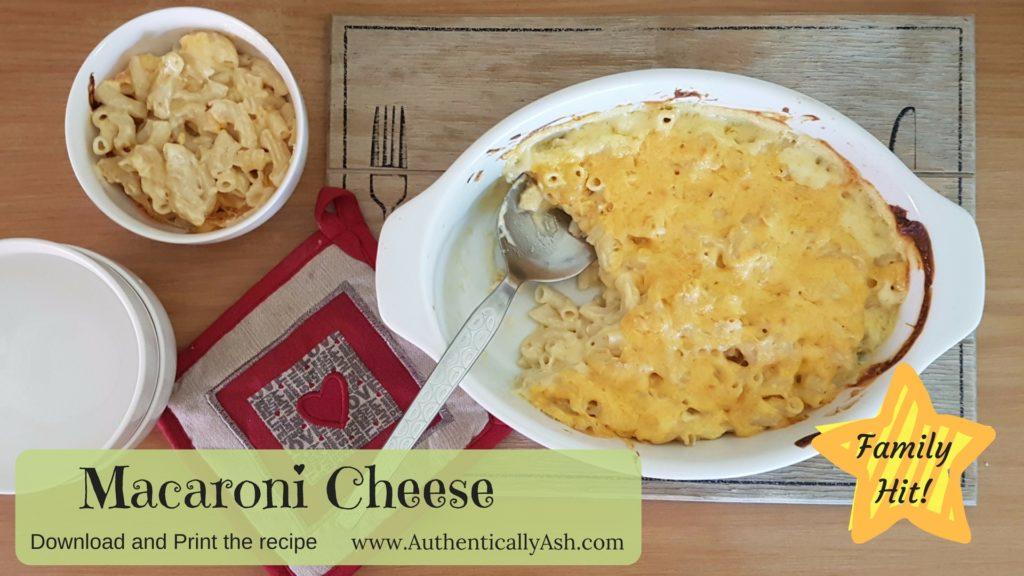 Easy Macaroni Cheese Recipe | AuthenticallyAsh.com