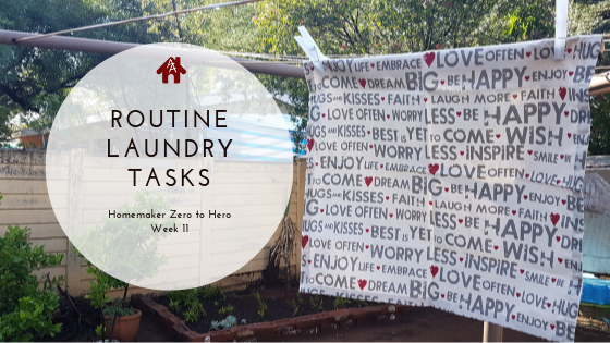 Routine Laundry Tasks - Homemaker Zero to Hero - Week 11 | AuthenticallyAsh.com