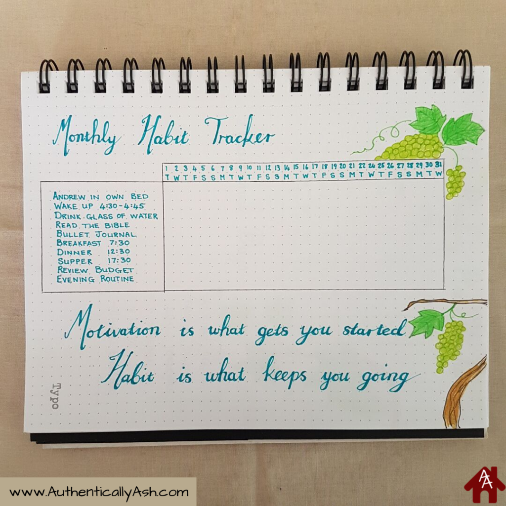 Monthly Habit Tracker based on my Level 10 Life Goals | AuthenticallyAsh.com