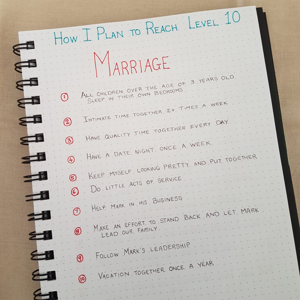 Level 10 Life Marriage Goals - Bullet Journal | AuthenticallyAsh.com